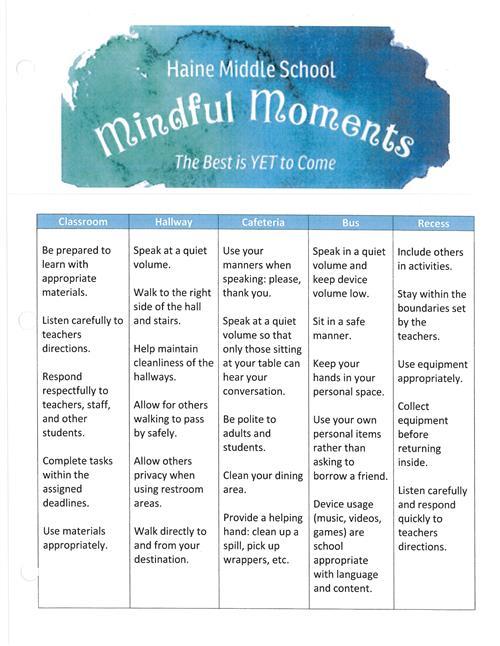 307 Fornadel - 313 Fagan - 316 Mann / Mindful Moments  Team