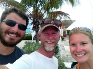 Logan Gillian and Baxter at Marathon City Marina