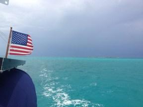 Ominous sky as we entered Elizabeth Harbor