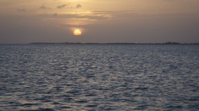 Sunset at New Bight Anchorage