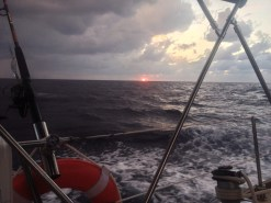 Sunset as we enter the Gulf Stream