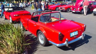 Triumph TR4 at Classics by the Beach, Hobart