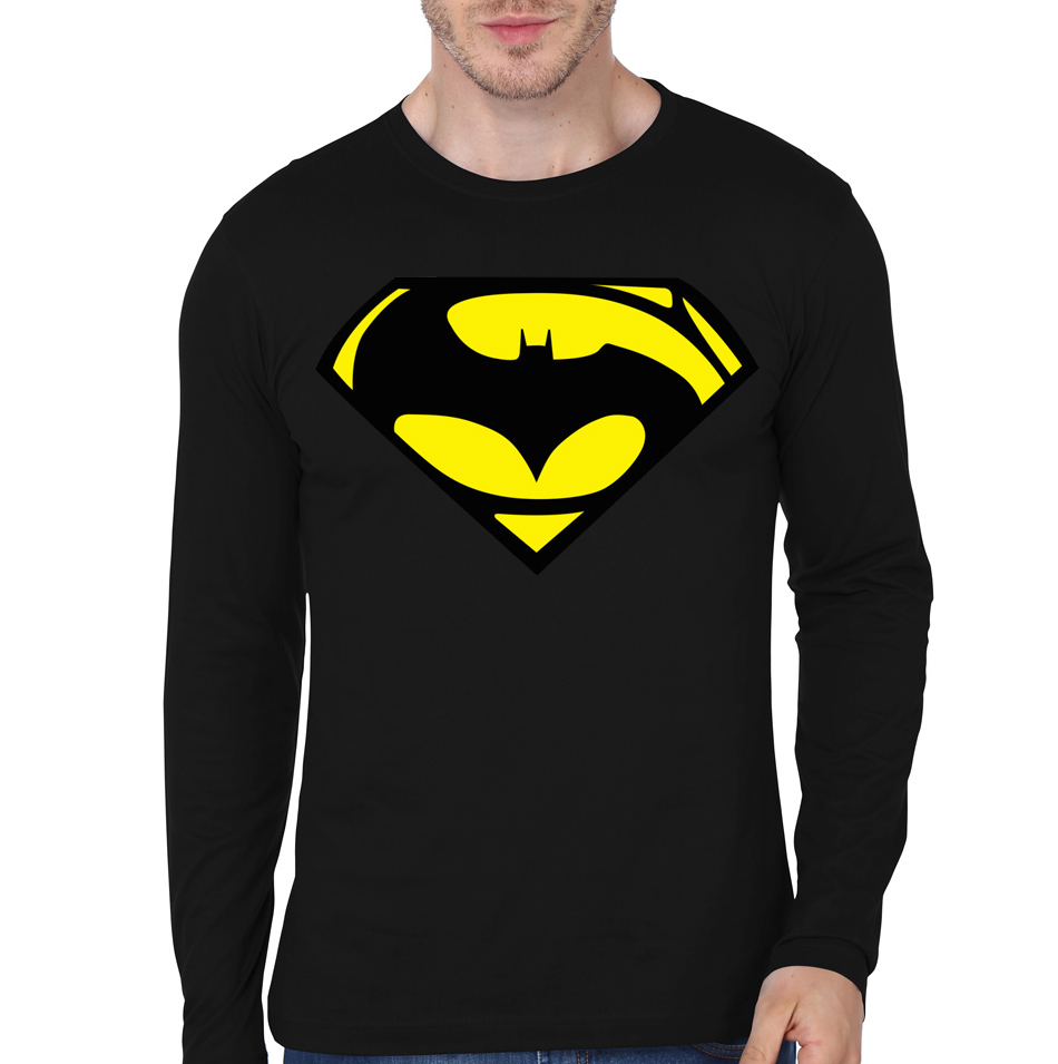 Batman vs superman black full sleeve tee