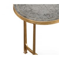 Glass Round Side Table, Gold | Swanky Interiors