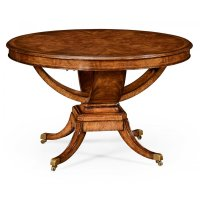 6-Seater Round Dining Table, Walnut | Swanky Interiors
