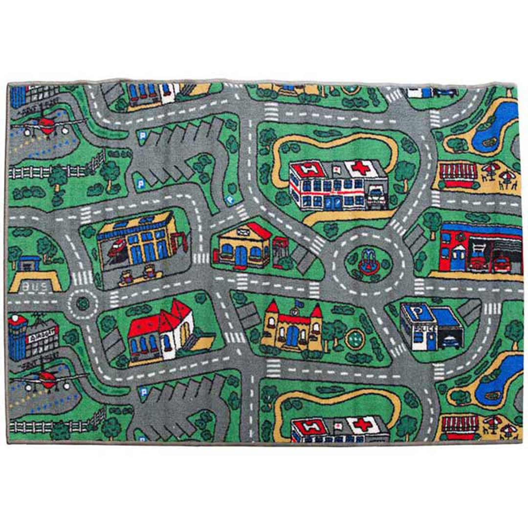 Children39s Mats Baby Rug Kids City Roads Play Car Play Mat