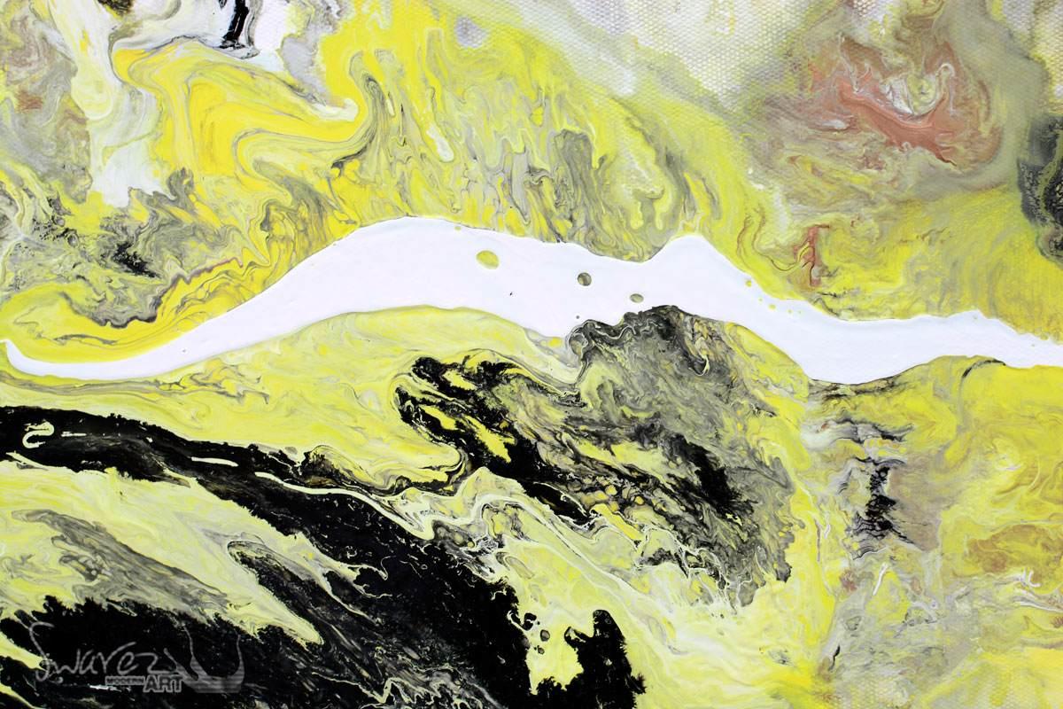 Mustard yellow original art