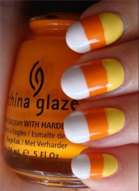 Nail Art Tutorial: Candy Corn Nails | Swatch And Learn