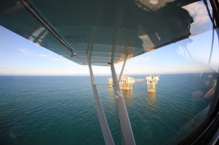 Oil Rig Flying