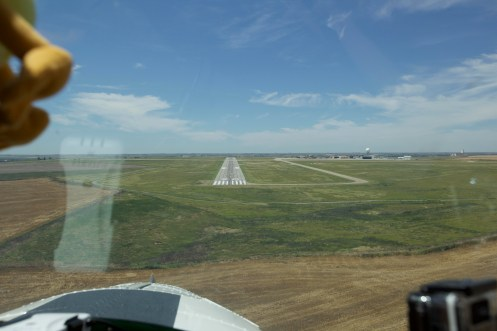 Landing In Dodge City, Kansas