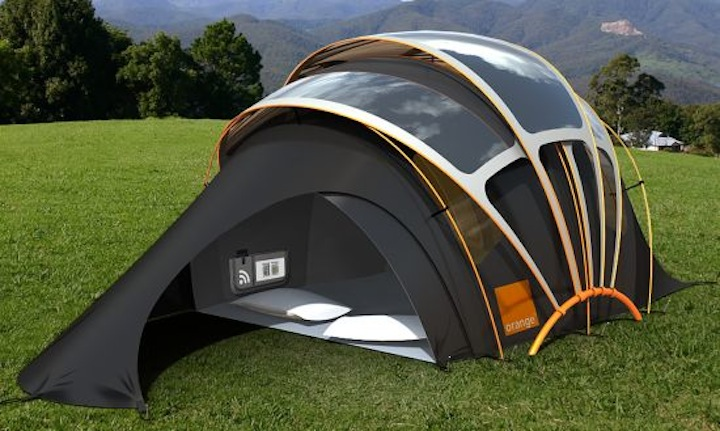 Today on the Boards: A High-Tech Solar-Powered Tent
