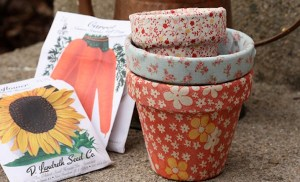 Christine Chitnis' Fabric and Flower Pot DIY Tutorial