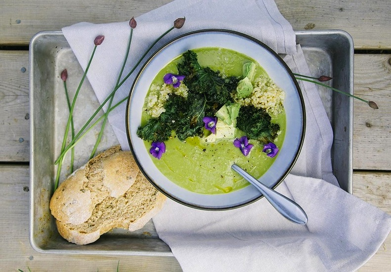 Today on the Boards: Asparagus and Ramp Soup