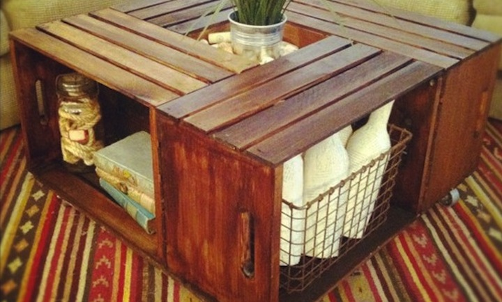 Today on the Boards: A DIY Crate Coffee Table