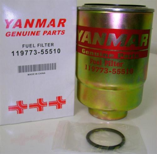 119773-55710, fuel, filter, Yanmar, diesel, engine, motor, marine