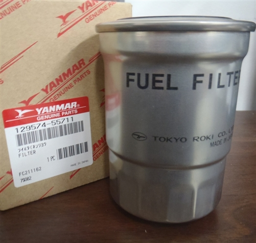 129574-55711, yanmar, fuel, filter, 4JH3, 4JH4, TCE, DTE, HTE