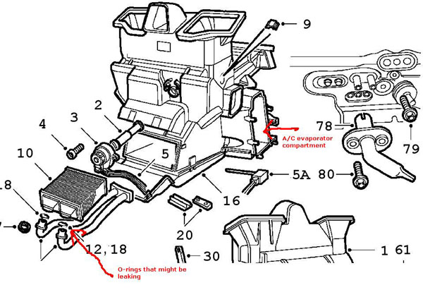 on heater blower cooling system parts location index car parts diagram