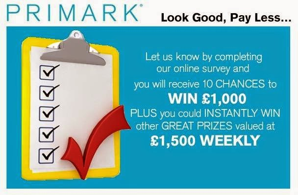 Tell Penneys Primark In Survey Sweeps Win 1000 Daily Or