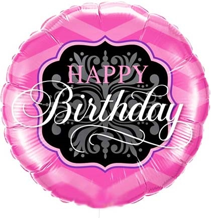 Pink Happy Birthday Balloon Sweet 16 Party Store