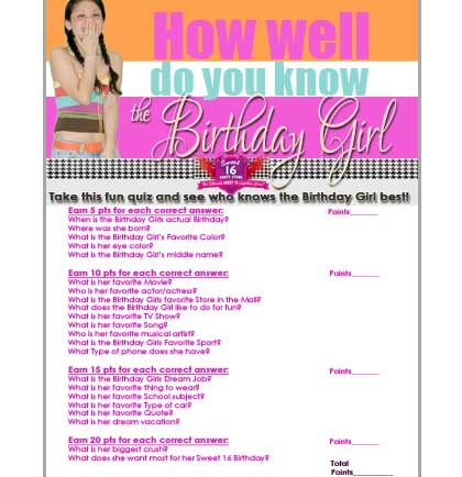 FREE Printable Sweet 16 Party Planning Checklists  More!