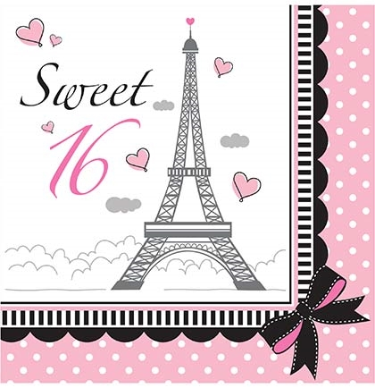 Wallpaper Border For Teenage Girl Party In Paris Sweet 16 Napkins Sweet 16 Party Store