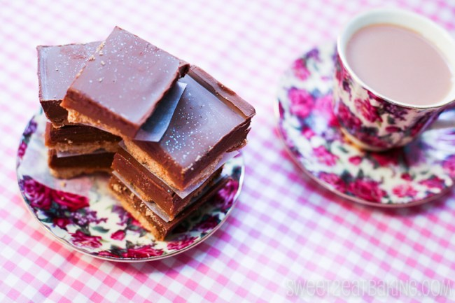 Chocolate Caramel Shortbread Squares