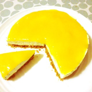 {Guest Post} Mango Ginger and Coriander Cheesecake