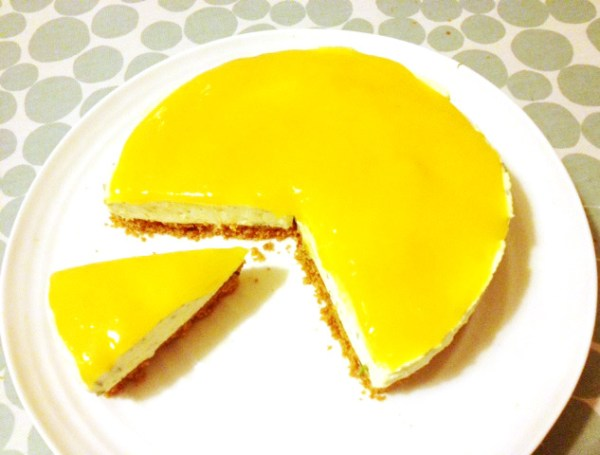 Mango Ginger and Coriander Cheesecake