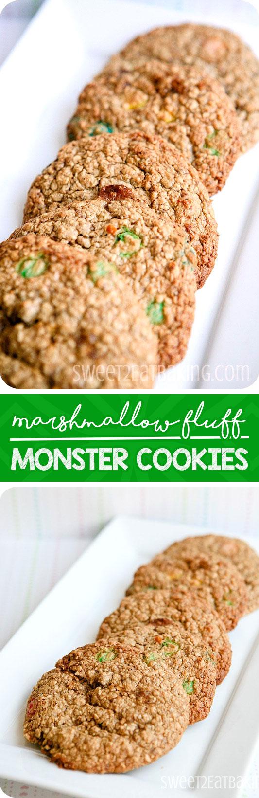 marshmallow-fluff-monster-cookies