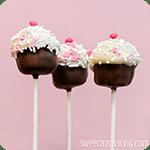Pink Velvet Cupcake Cake Pops Recipe