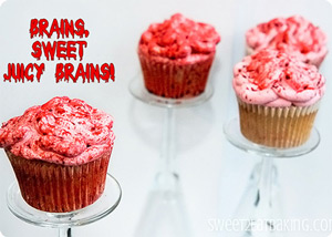 Bloody Brains Cupcakes