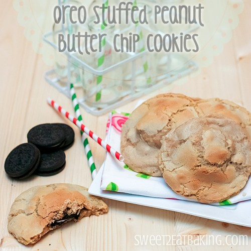 Oreo Stuffed Peanut Butter Chip Cookies