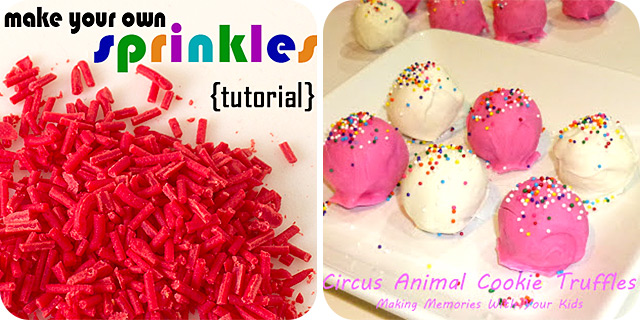 How to Make Sprinkles at Home | Circus Animal Cookie Truffles