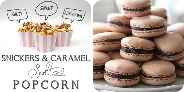 Snickers and Caramel Salted Popcorn | Ovaltine Macarons