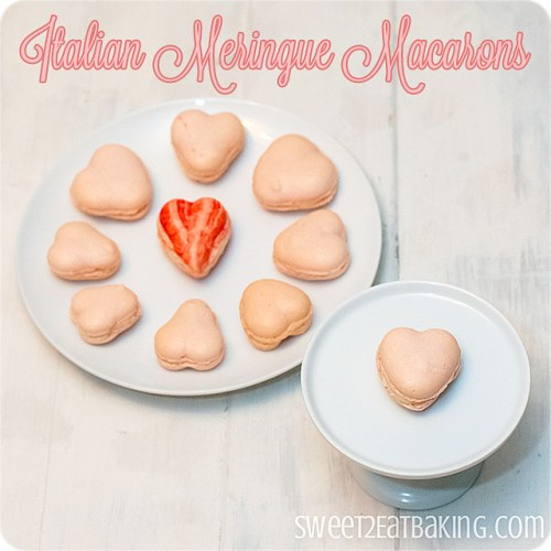 Italian Meringue Valentine's Heart Macarons