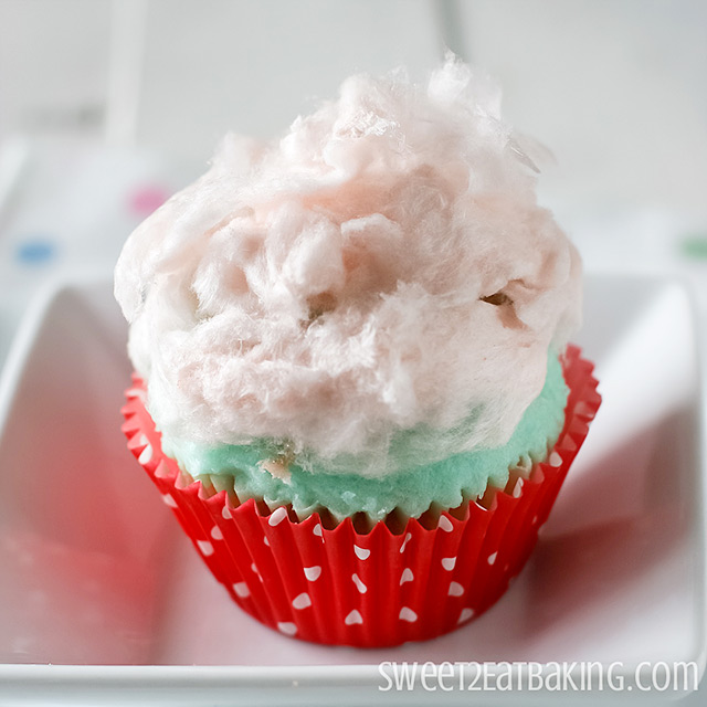 Cotton Candy (Candy Floss) Cupcakes