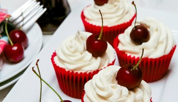 Cherry Coca-Cola (Coke) Cupcakes
