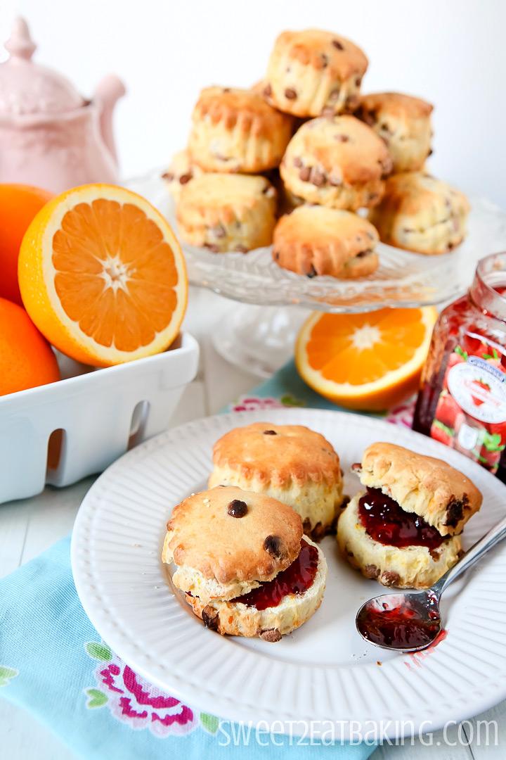 Chocolate Orange Scones by Sweet2EatBaking.com