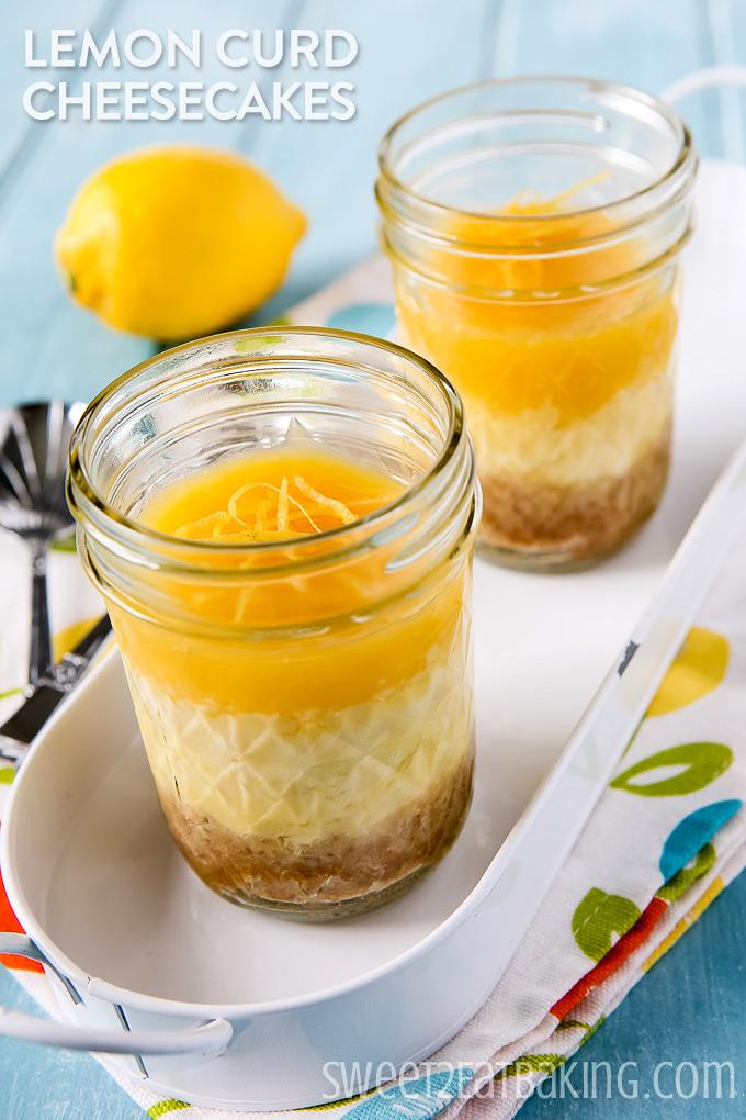 Lemon Curd Cheesecakes by Sweet2EatBaking.com