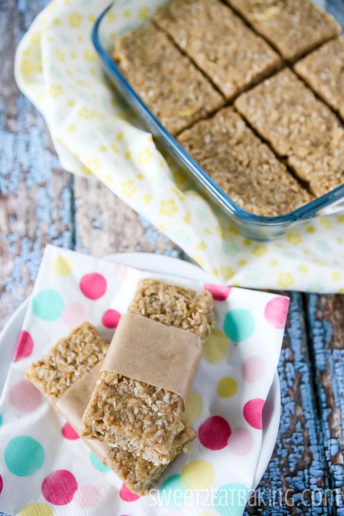 Tropical Granola Bars by Sweet2EatBaking.com