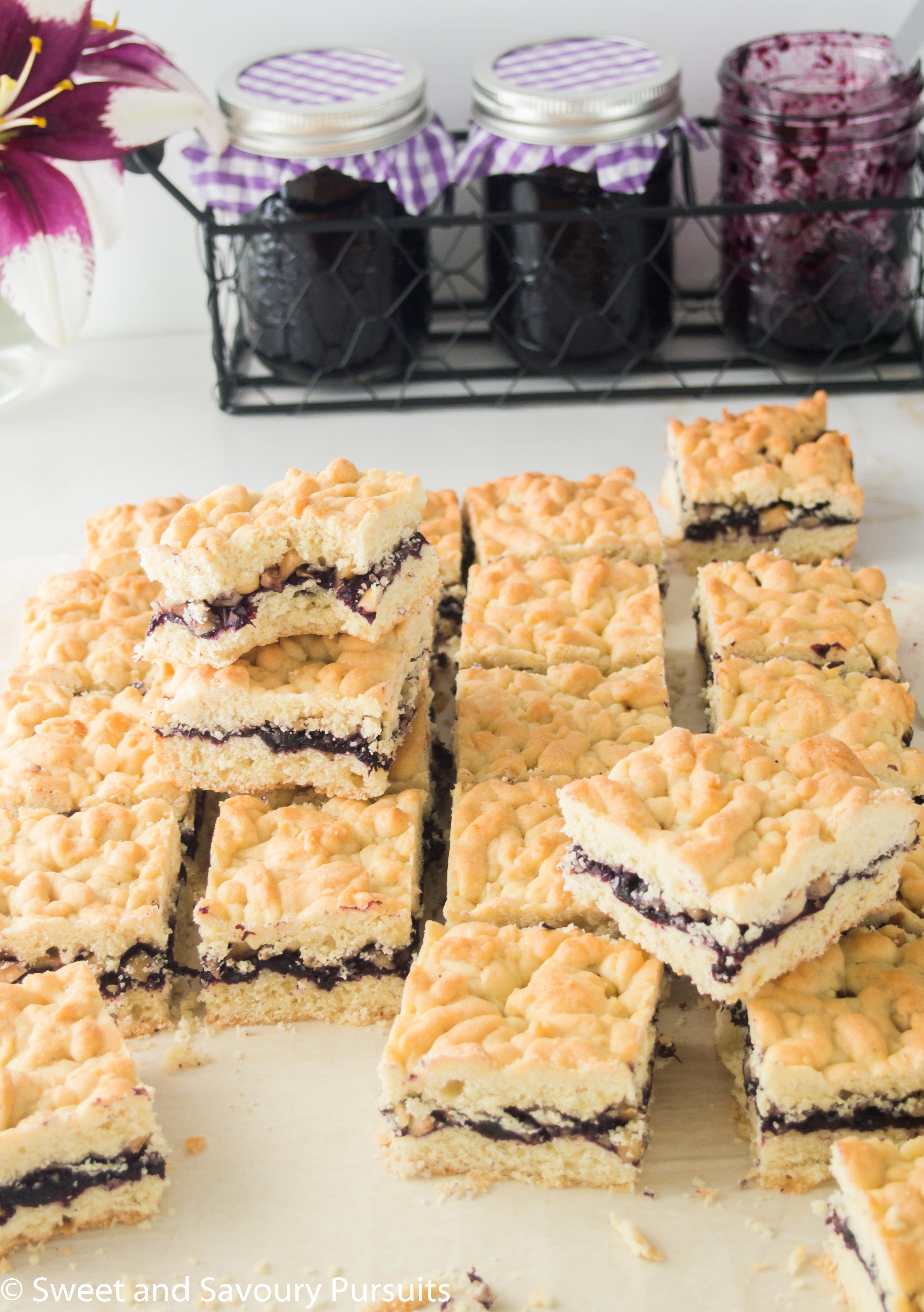 Blueberry Jam and Hazelnut Bars - Sweet and Savoury Pursuits