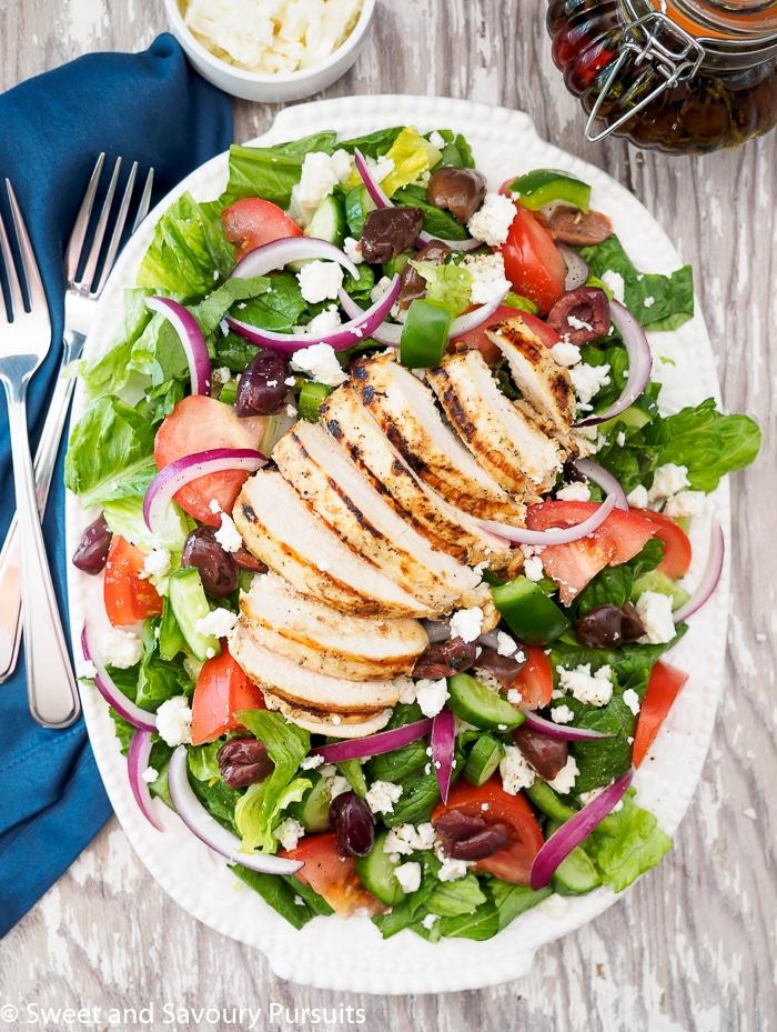 Greek Salad with Grilled Chicken