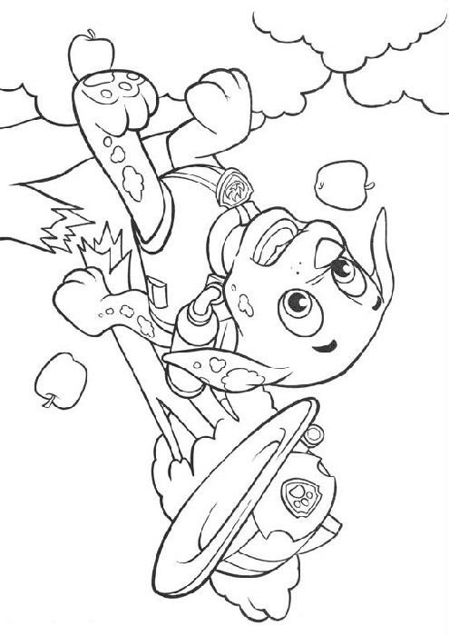 coloriage pommier dessin