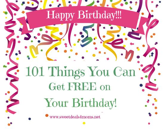 101 birthday freebies