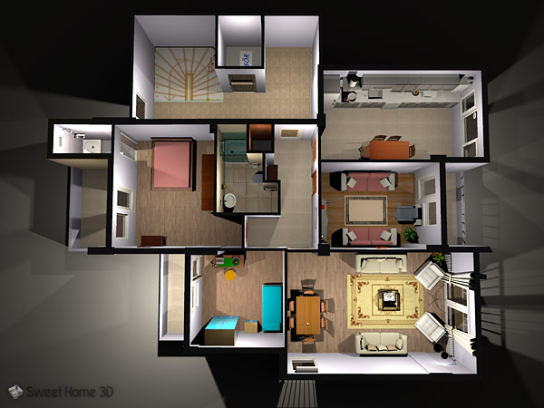 Sweet Home 3D - Draw floor plans and arrange furniture freely - 3d home design online