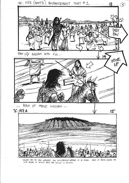 Braveheart the Stirling sequence - Storyboards