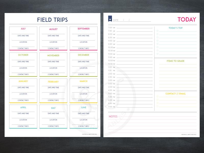 field trip planning printable - Sweet Paper Trail