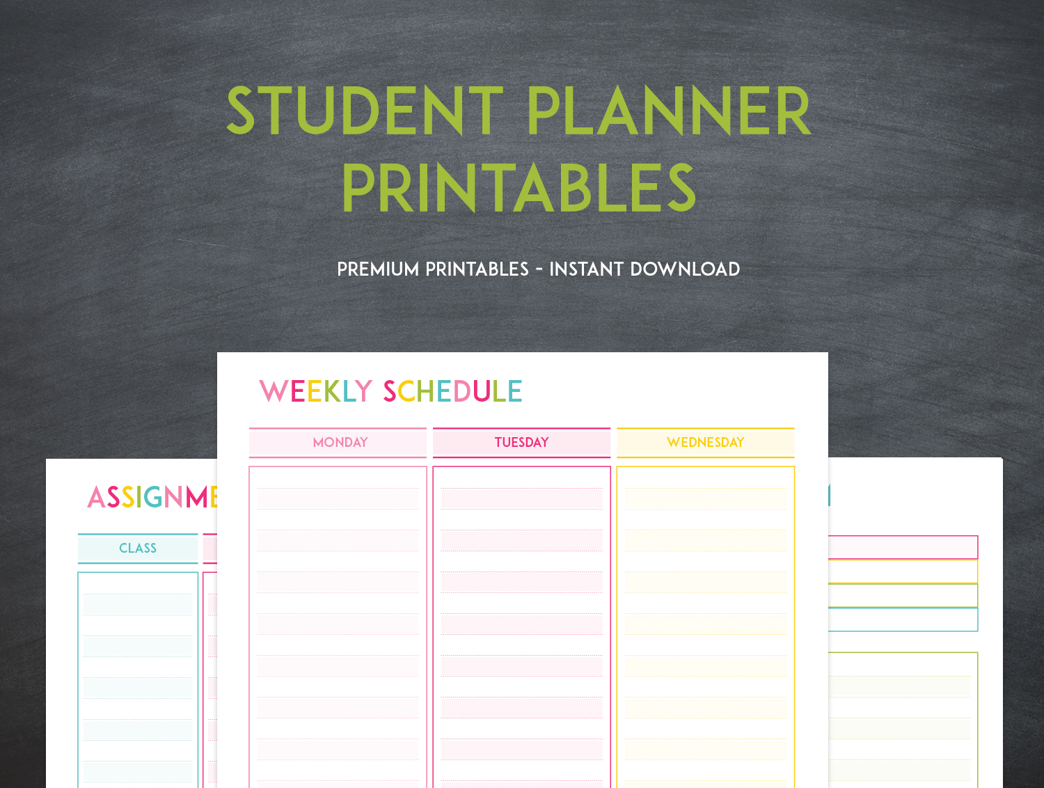 weekly schedule printables