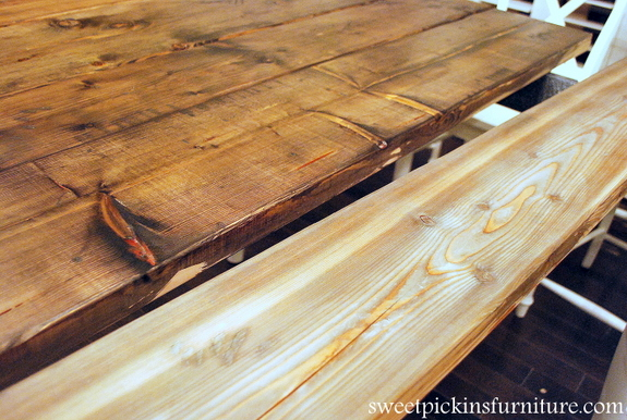 My Table Re-Do With New Wood Top!! | Sweet Pickins Furniture