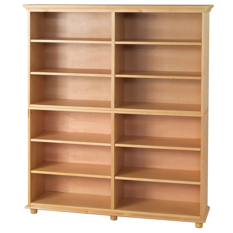 Bookcase Dimensions Huge 12 Shelf Bookcase In Natural By